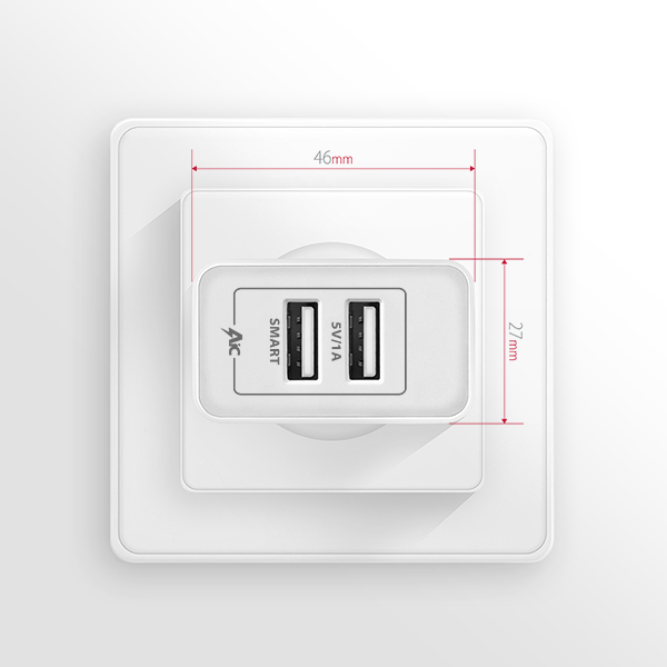 ACU-5V3 2.1A + 1A wall charger