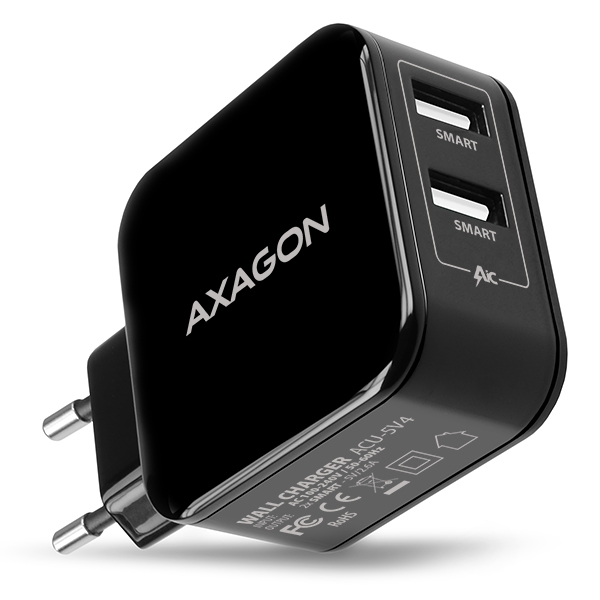 ACU-5V4 2.6A + 2.6A wall charger