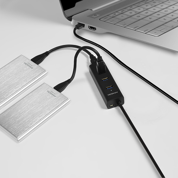 HUE-S2BL SuperSpeed USB CHARGING hub