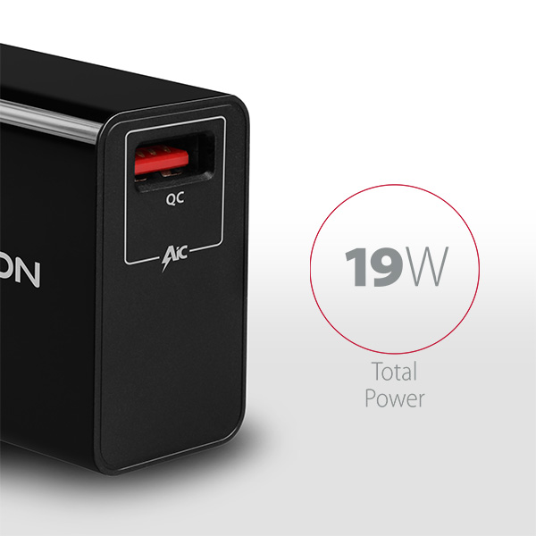 ACU-QC19 QC3.0 wall charger