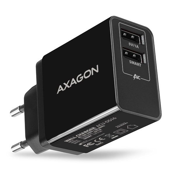 ACU-DS16 5V/2.2A + 5V/1A SMART wall charger