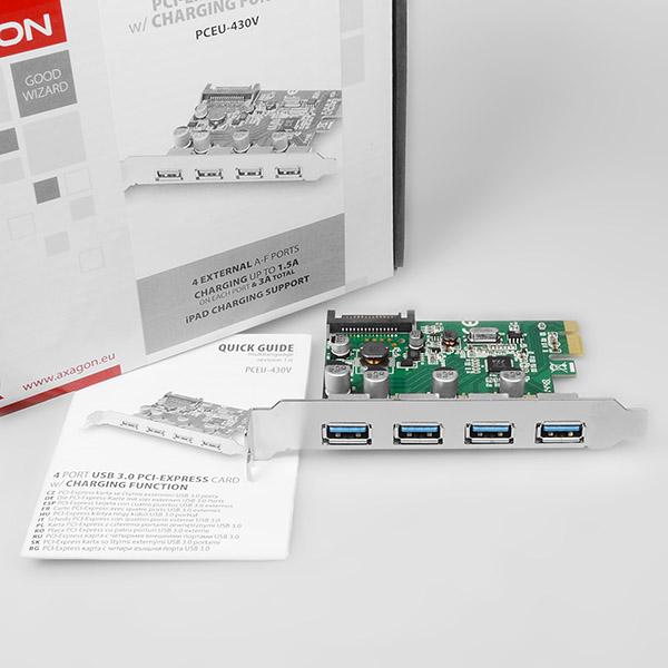 PCEU-430V PCIe controller 4x USB3 0 | Axagon