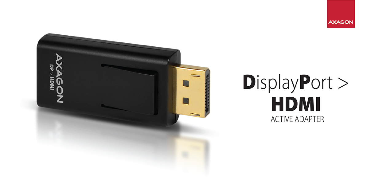 RVD-HI DP > HDMI adapter | Axagon