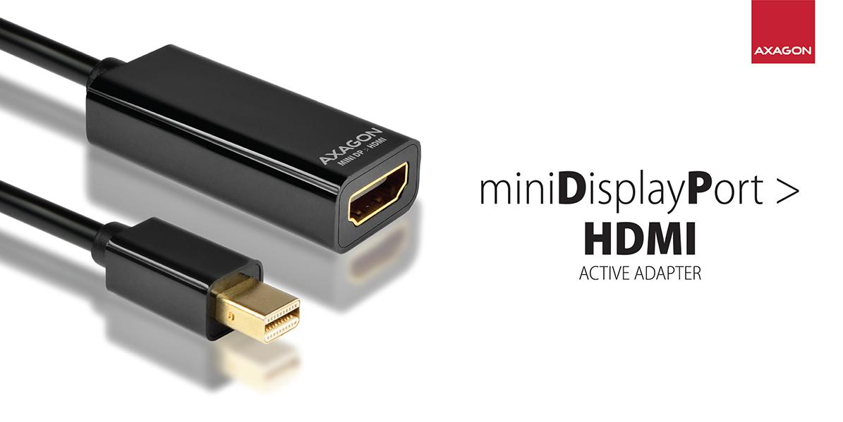 RVDM-HI Mini DP > HDMI adapter | Axagon